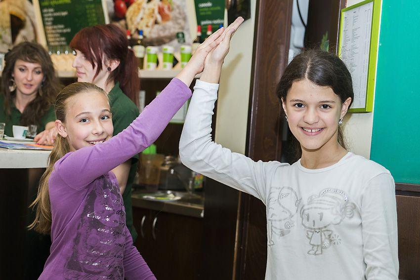 Lenka a Saška v GreenTree Caffé