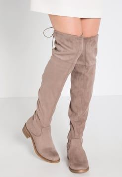 Damens Flache Stiefel khaki Big Schnäppchen Stiefel