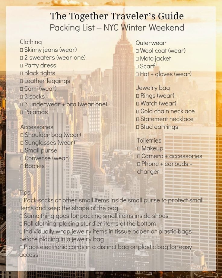 Itinerary + Packing List -