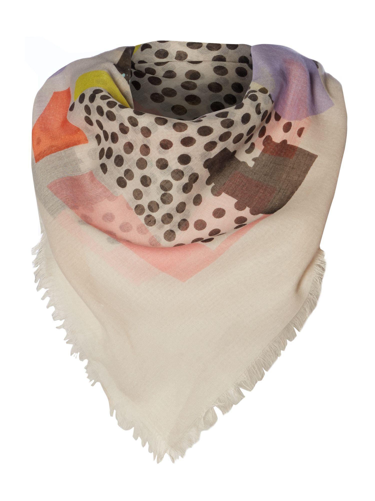 59e856b1b490ee Codello Art just is square scarf, Multi-Coloured | Scarfs