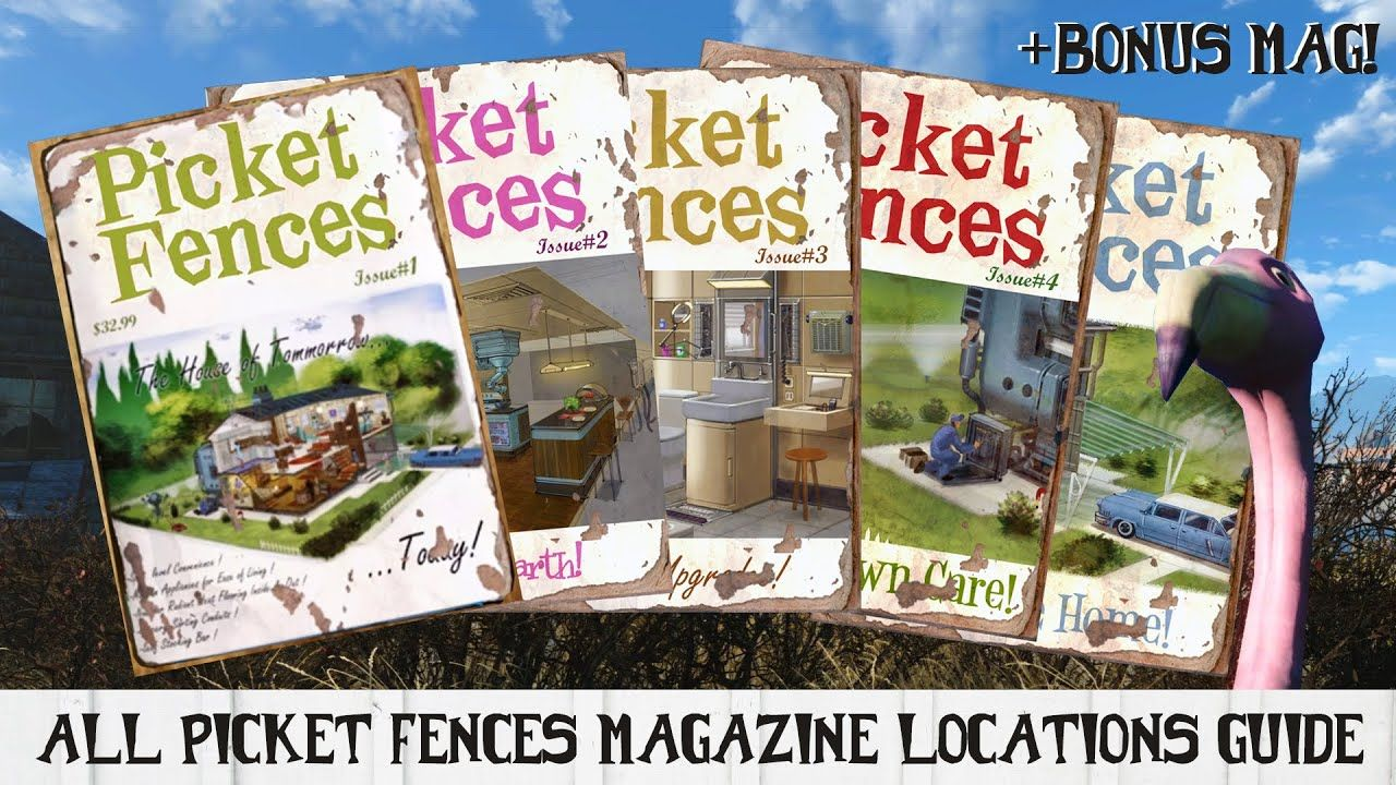 All Picket Fences Magazine Locations Guide For Fallout 4 Bonus Mag With Images Fallout 4 Magazines Fallout 4 Tips Fallout