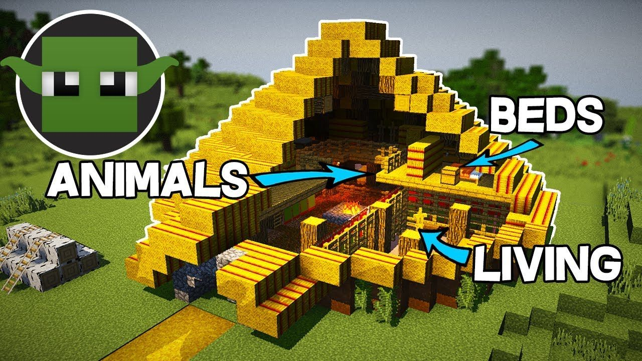 Minecraft Tutorial: Iron Age RoundHouse (How to Build a
