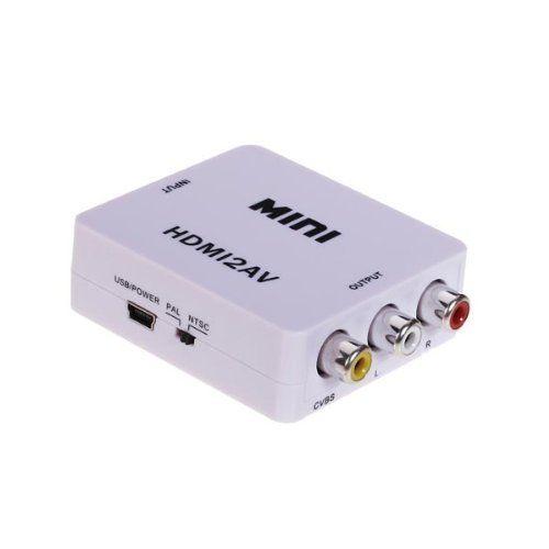 Mini White HDMI to 3RCA Composite Video AV Converter For TV/PC/PS3/Blue-ray DVD AV Converter http://www.amazon.com/dp/B00JGGV1VG/ref=cm_sw_r_pi_dp_cLemub0HG5S4H