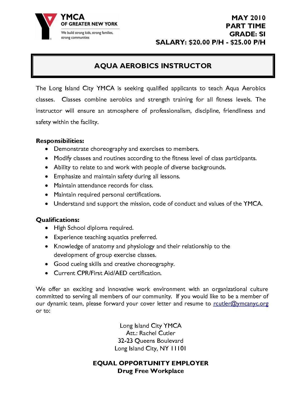 Sample Resume Zumba Instructor in 2020 (With images