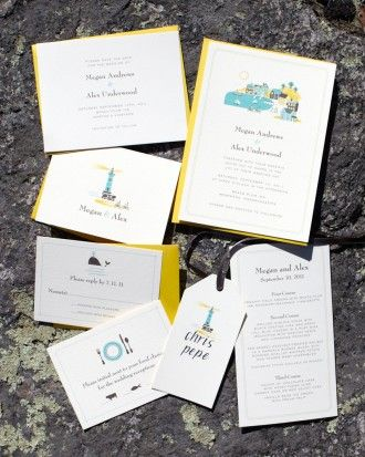 "See the ""A Nautical Nod"" in our Invitations from Real Weddings gallery"