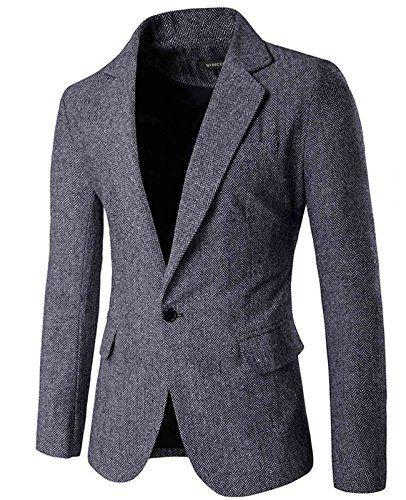 5311266327a8 Nidicus Mens Fit British Style Blazer Herringbone One But ...