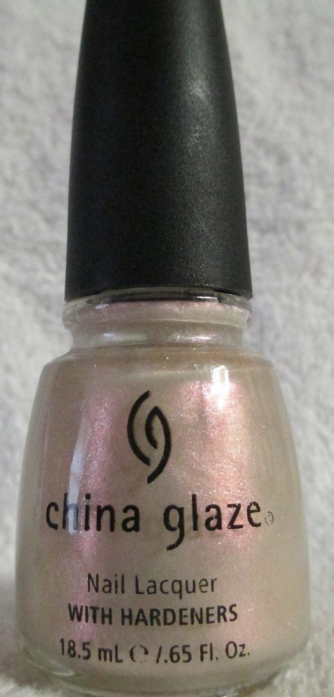 China Glaze Nail Polish Bali Bliss #CGX158 Light Pink Shimmer Lacquer Manicure #ChinaGlaze
