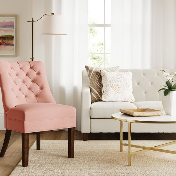 Winslow Tufted Back Chair Blush