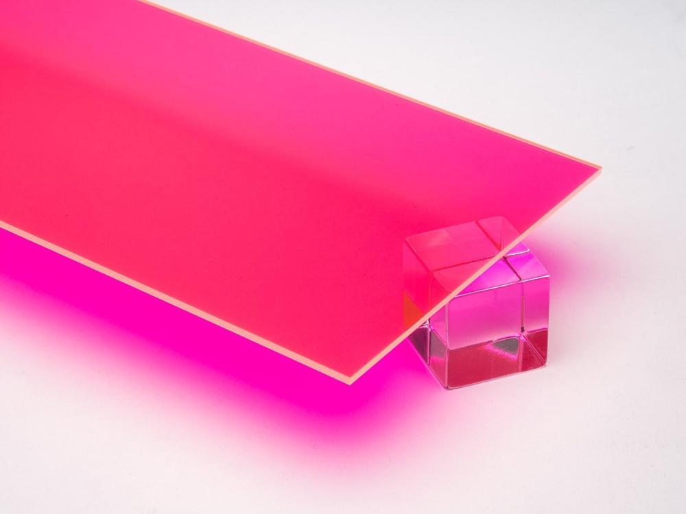 Acrylic Sheet 1 8 Pink Fluorescent 9095 Plexiglas Etsy In 2020 Acrylic Sheets Colored Acrylic Sheets Transparent Surfaces