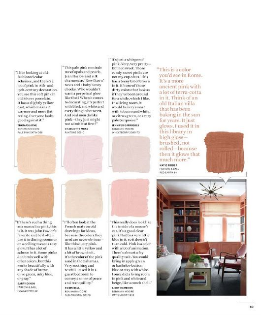 Julia Ryan House Beautiful Color Charts Part Ii The Best Pinks Page 2