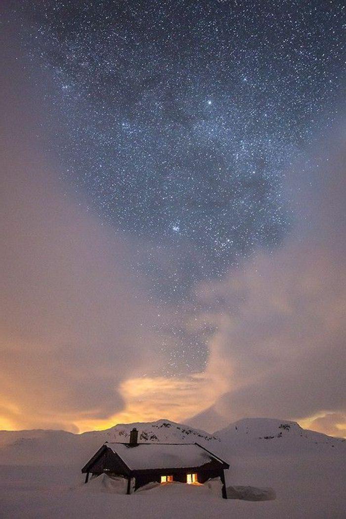 Le paysage d 39 hiver en 80 images magnifiques hiver pinterest paysage hiver - Paysage enneige dessin ...