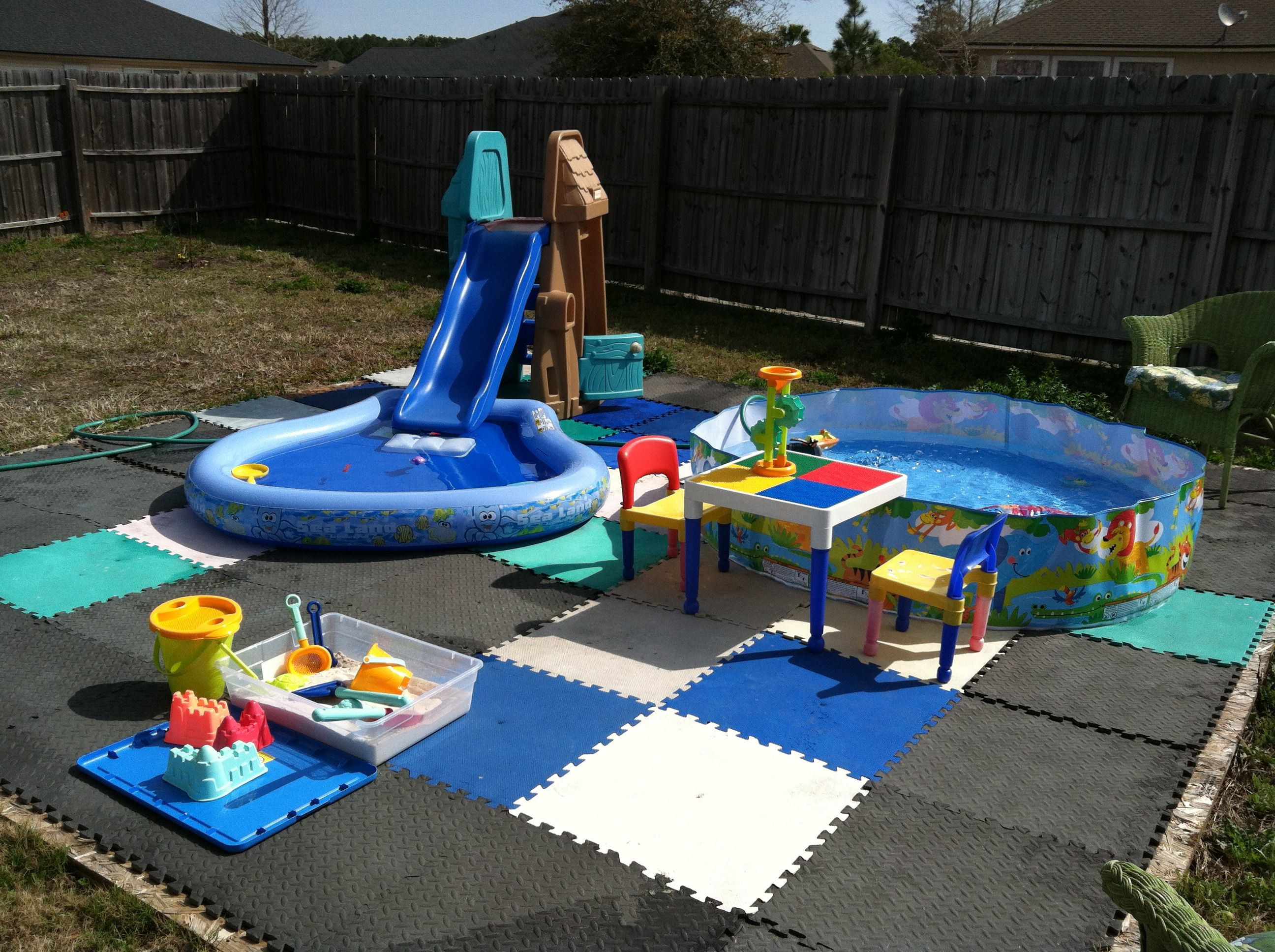 DIY water park....just like the idea for when putting ...