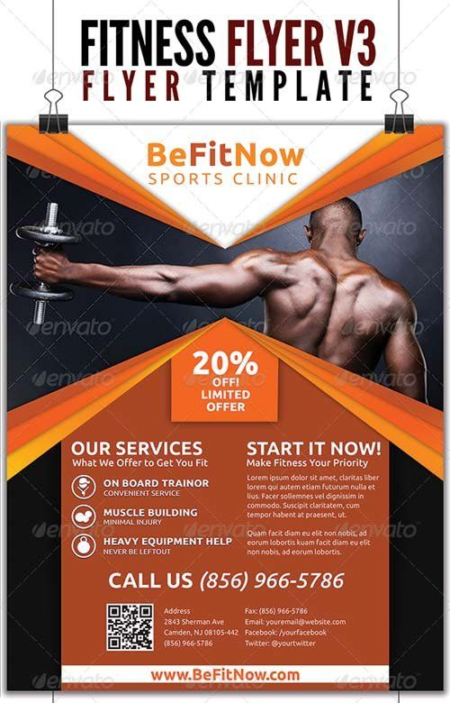 Fitness flyer google inspire fitness pinterest for Fitness brochure template