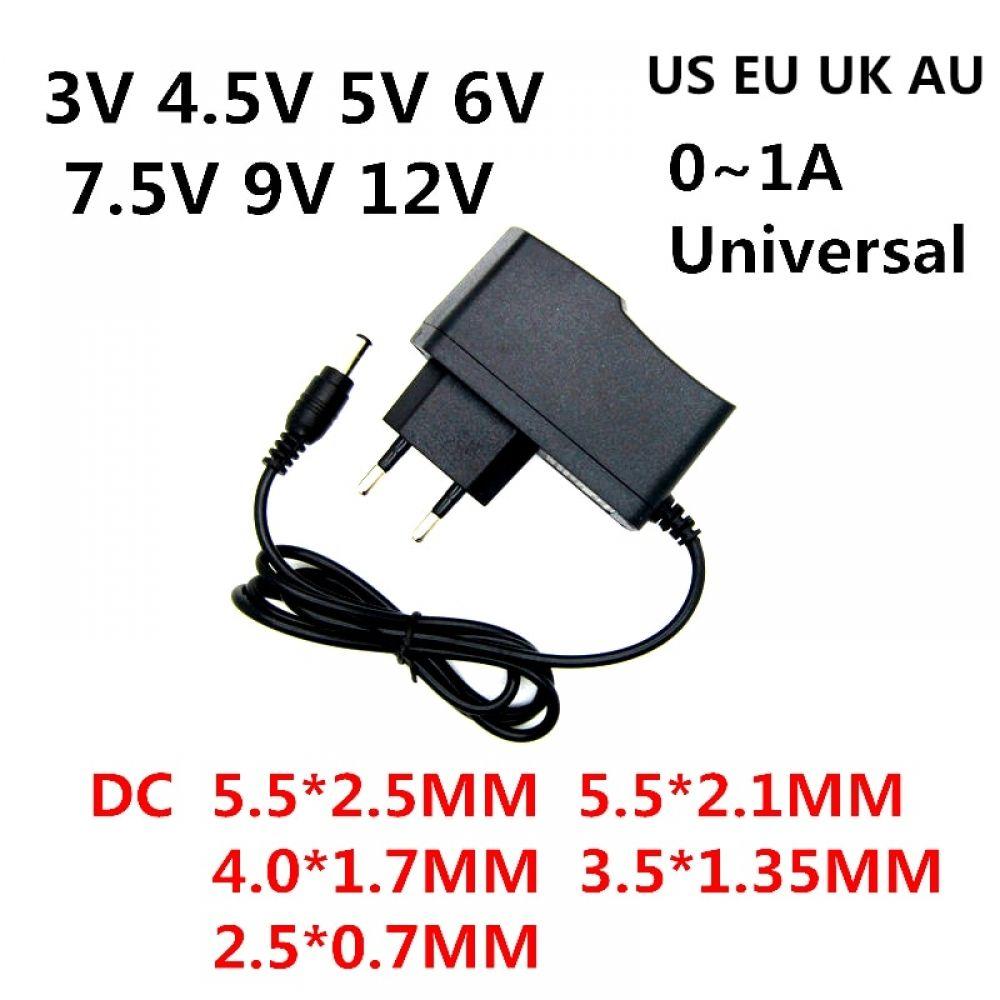 Ac 110 240v Dc 3v 4 5v 5v 6v 7 5v 9v 12v For 0 5a 1a Led Light Strip Universa Adapter 12 V Volt Ac Dc Converter Power Supply In 2020 Led Light