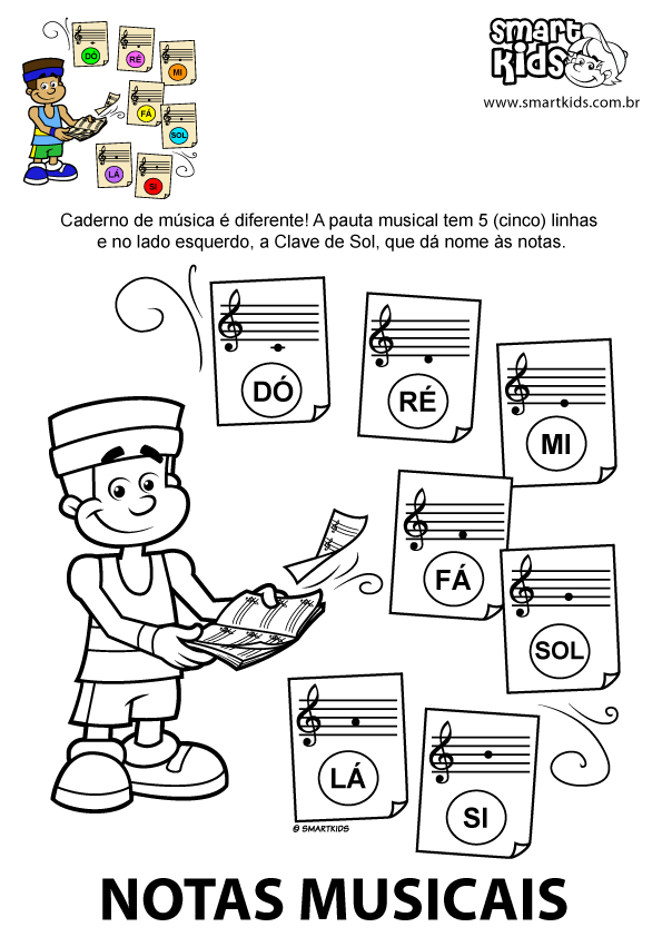 Super Colorir Desenho Sete Notas Musicais | Música | Pinterest | Notas  WU39