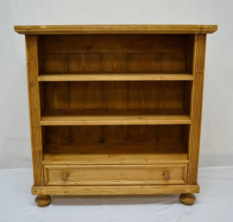 Pine Bookcase With Drawer In 2020 Pine Bookcase Antique