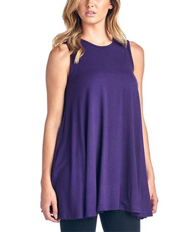 Another great find on #zulily! Eggplant Ruffle Swing Tank #zulilyfinds