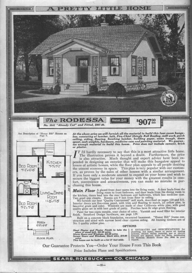 sears bungalow plans and more from 1918 to 1920 sears modern home no 3041 - 1919 House Plans