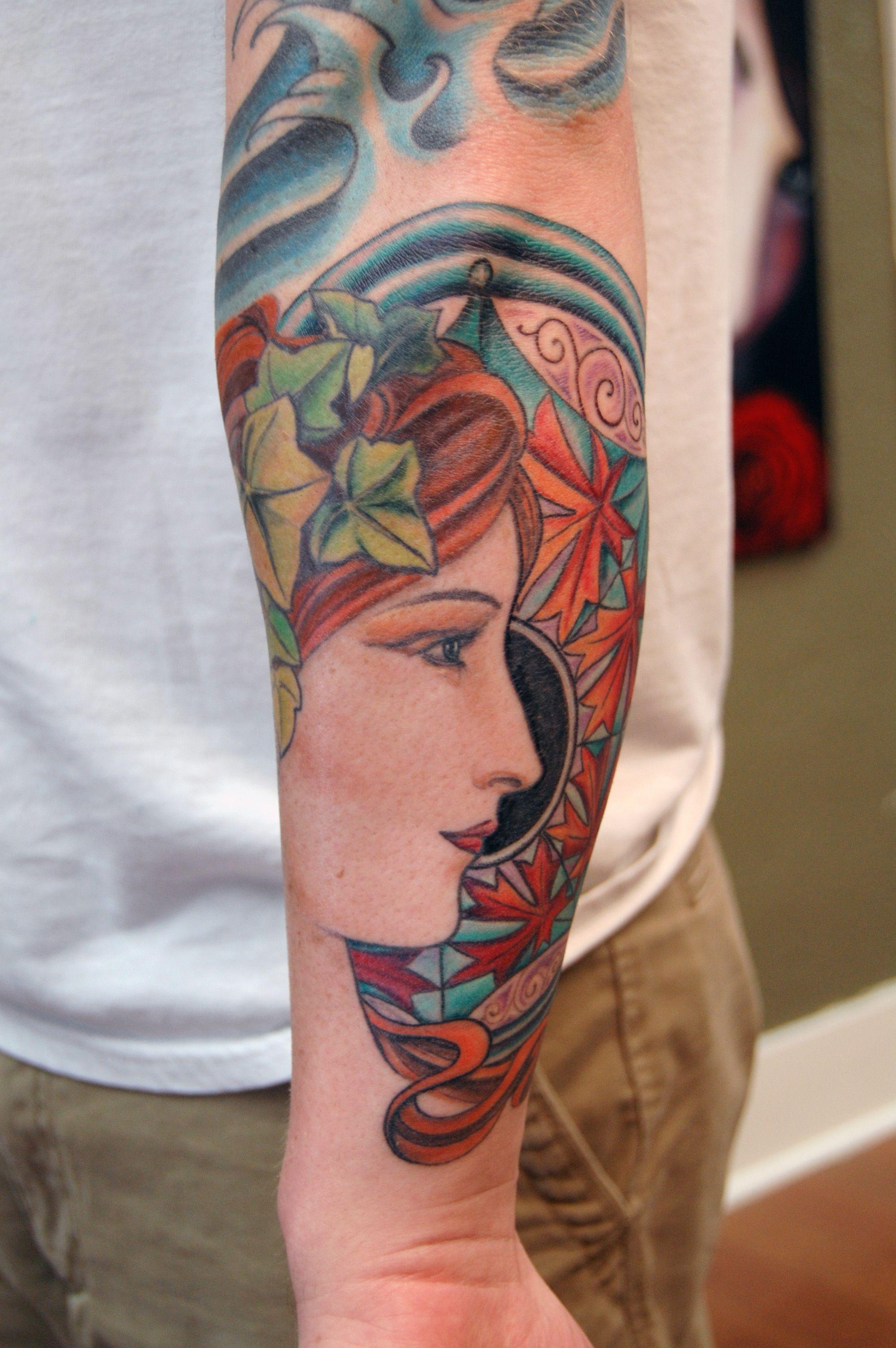 Art Nouveau Tattoo Design By Tegan Ray: 35 Alphonse Mucha Inspired Tattoos