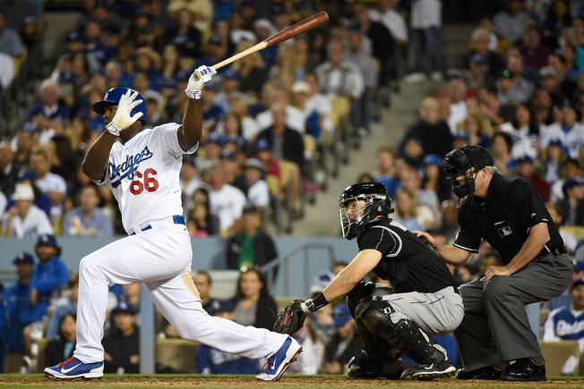 Puig Propels Dodgers Into First Place Yasiel Puig Dodgers Los Angeles