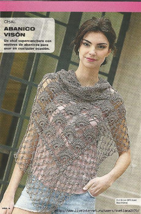 Maravilhas do Crochê: Xales e Shawl em Crochê | Moda em croche ...