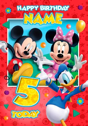 Mickey Mouse Clubhouse Group Red Recipes Disney Birthday Card