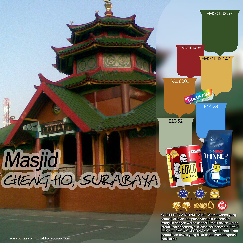 Jika Kawan EMCO sedang di kota Surabaya, Masjid Cheng-Ho patut dikunjungi karena menggambarkan perpaduan budaya Timur Tengah, Tionghoa dan Jawa. Cheng-Ho diambil dari nama seorang Laksamana asal China salah satu penyebar agama Islam di pulau Jawa. Masjid ini sekilas seperti kelenteng (rumah ibadah umat Tri Dharma).