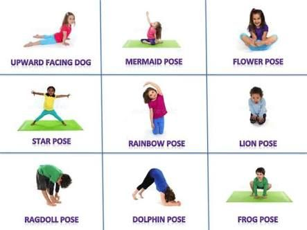 image result for yoga poses for kids printable with