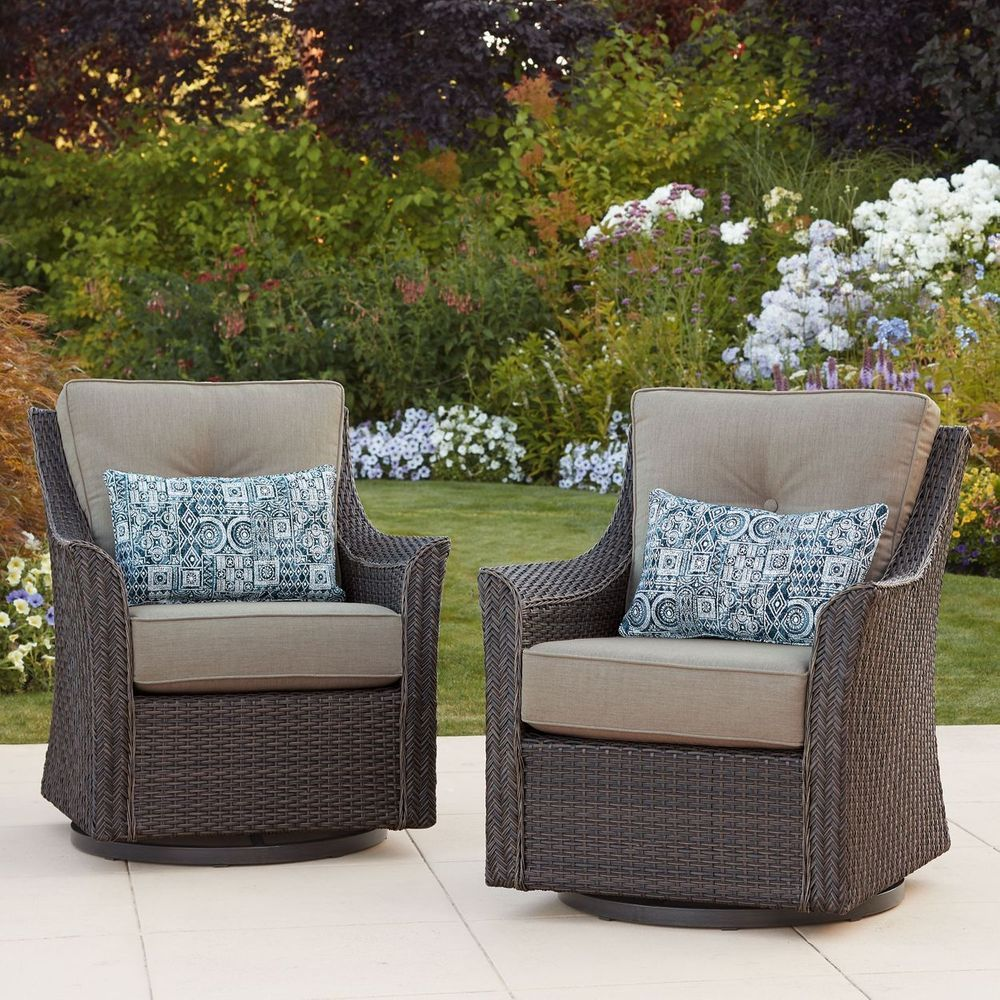 South Dakota Fire Chat Swivel Glider Chairs 2 Pack Swivel