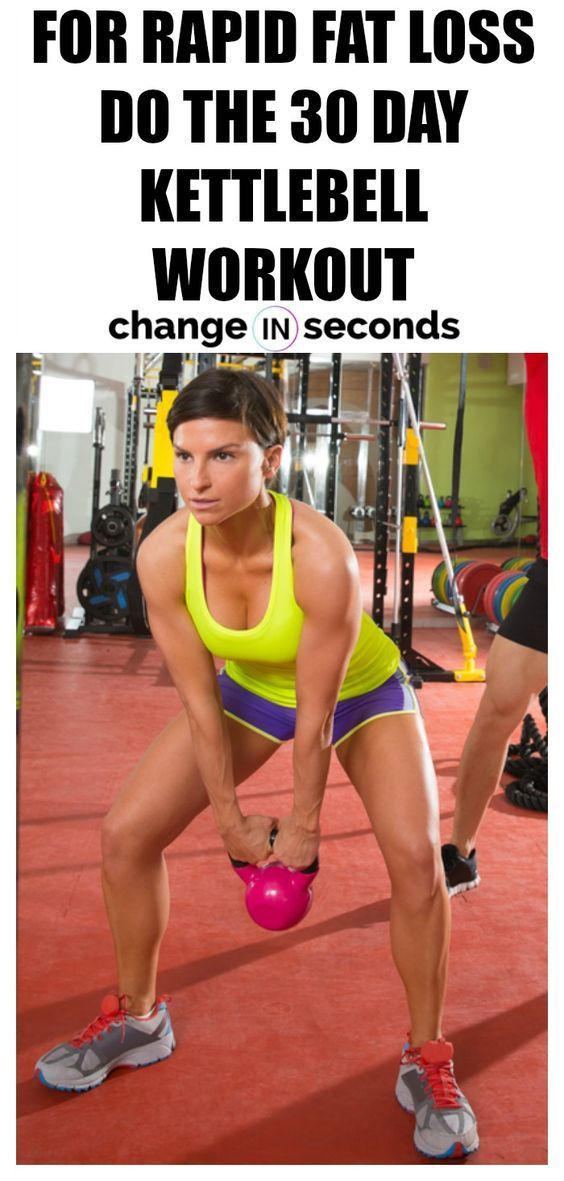 For Rapid Fat Loss Do The 30 Day Kettlebell Workout! Print our FREE PDF. For quick weight loss resul...