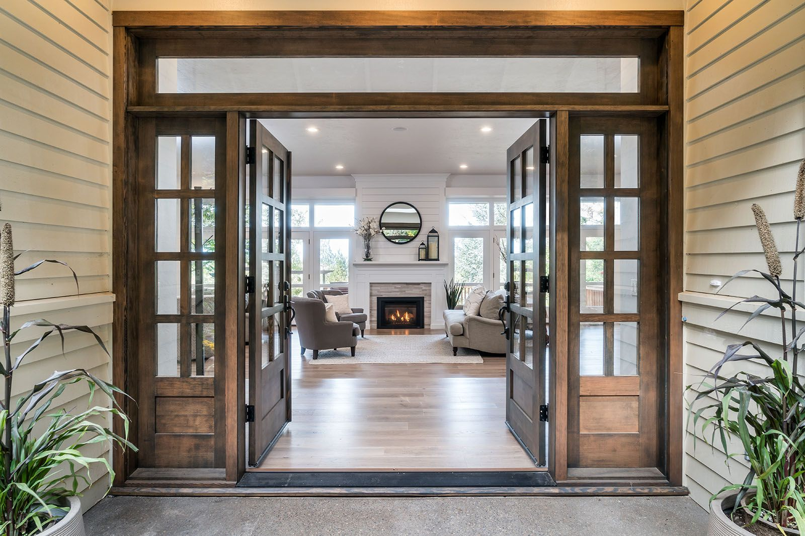 beautiful farmhouse and modern entry.jpg | House layouts ...