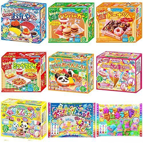 Kracie Popin Cookin 9 Item Bundle with Sushi Hamburger