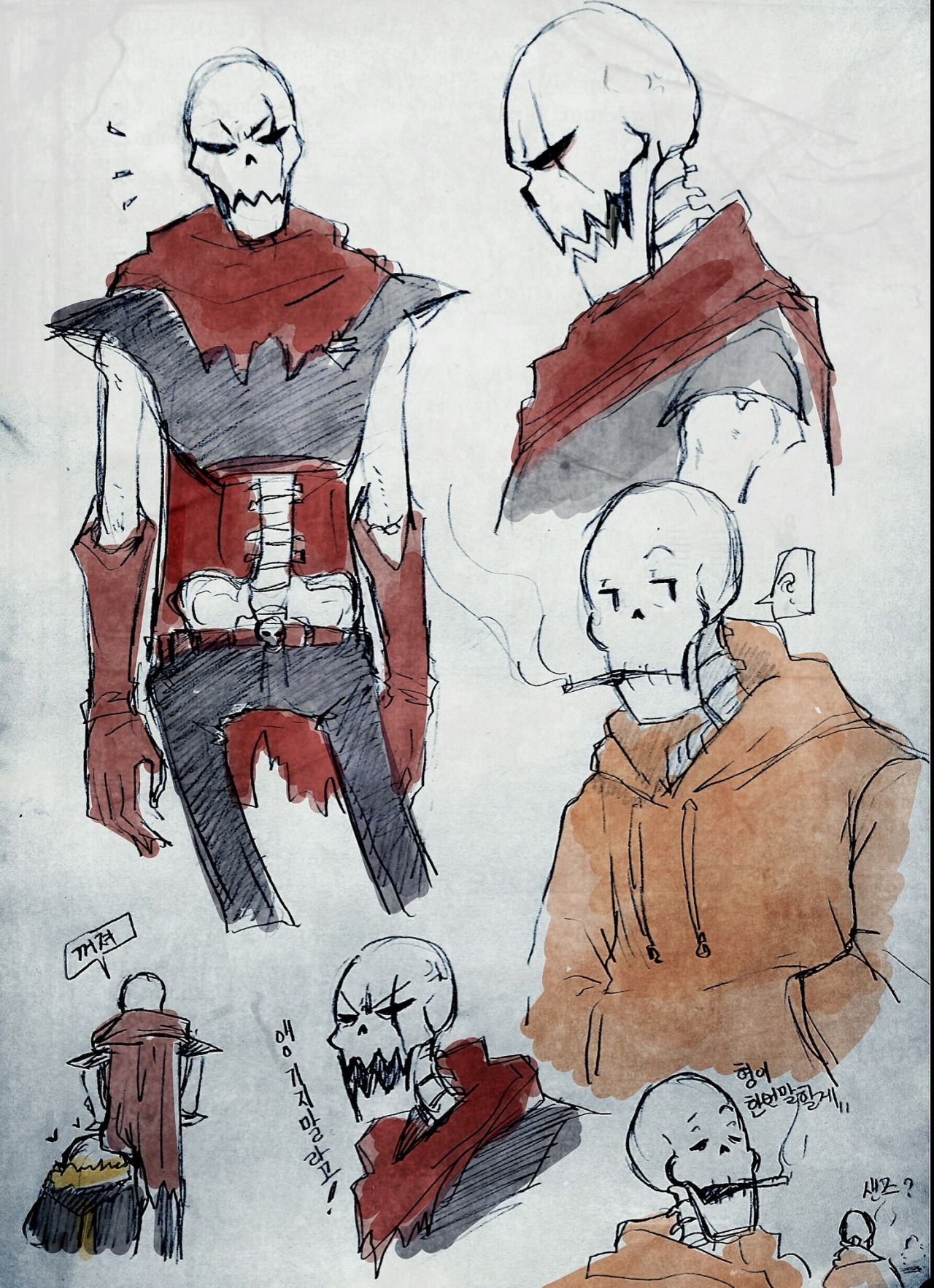 UnderFell! Papyrus / UnderSwap! Papyrus and UnderFell! Sans | Artist
