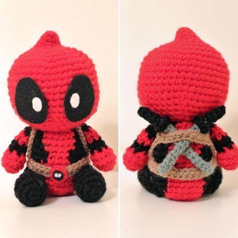 Deadpool Amigurumi | crochet, knit, and stitch | Pinterest | Tejido ...