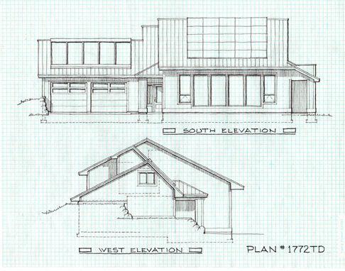 MODERN NetZero Energy House Plan House Plans Pinterest