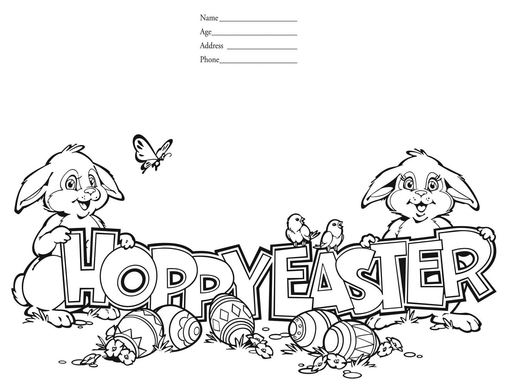 Easter Coloring Pages 2011 Easter Colouring Contest Columbia