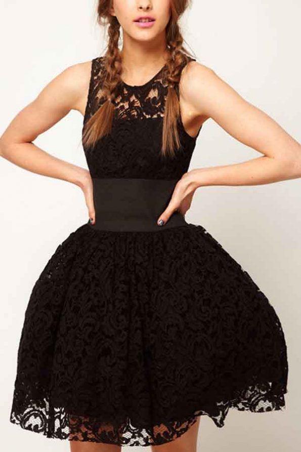 $55.99   Black Lace Tutu Tank Dress   Evergreenfashion ...