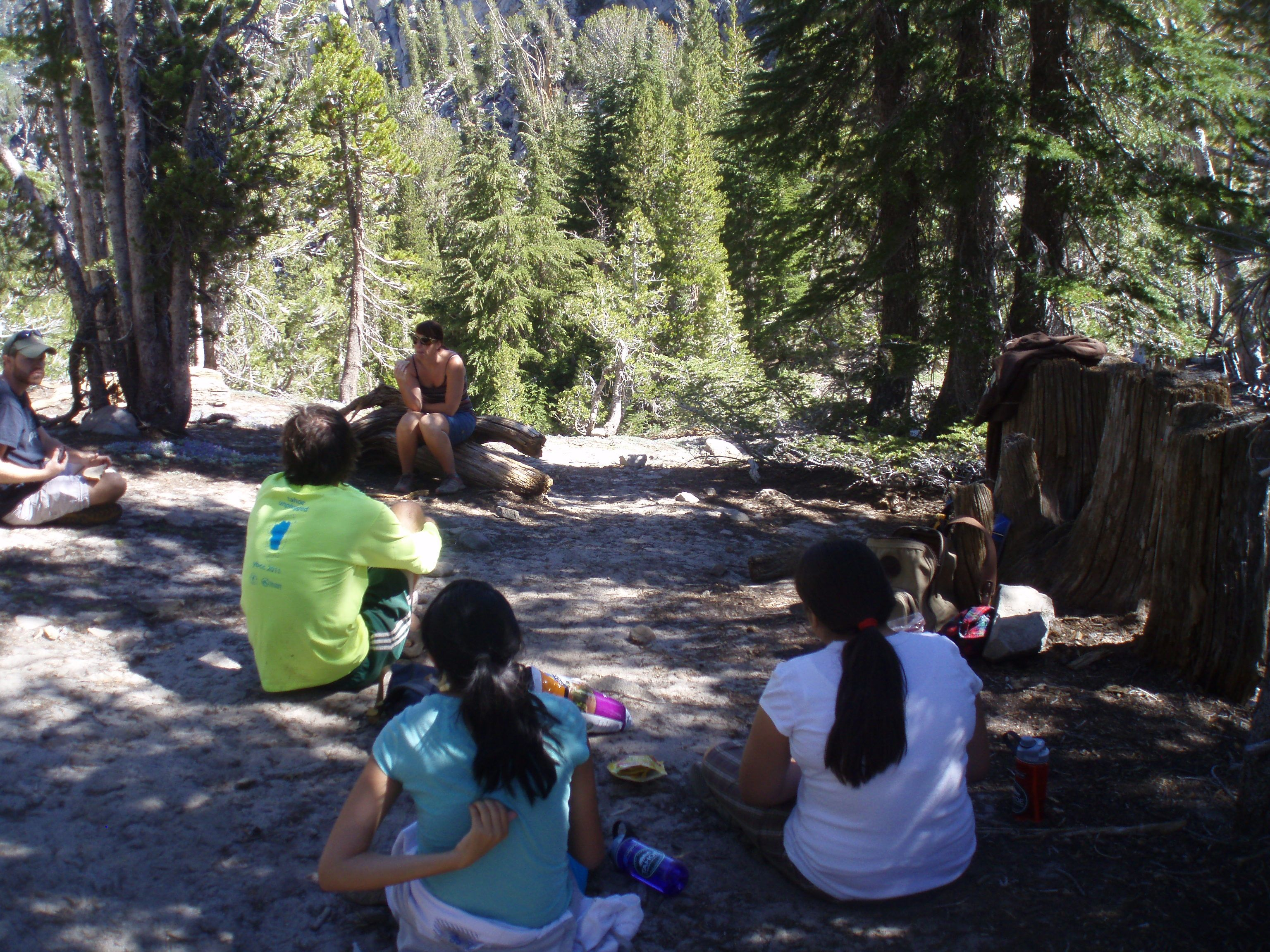 Pattern Changing Group on the Tahoe Rim Trail
