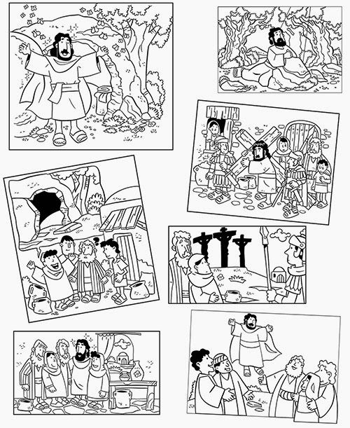 Coloring pages: Easter | Bible lesson | Pinterest | Actividades