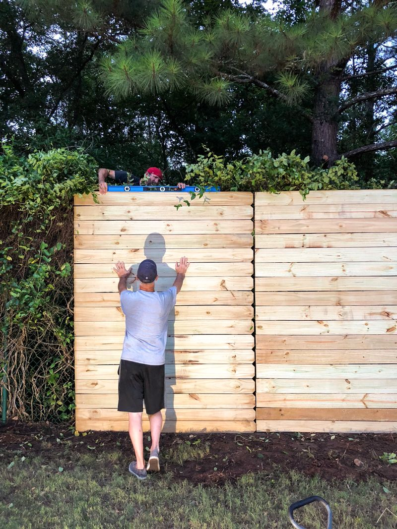 How to Build A Wood Fence On A Chainlink Fence Chain