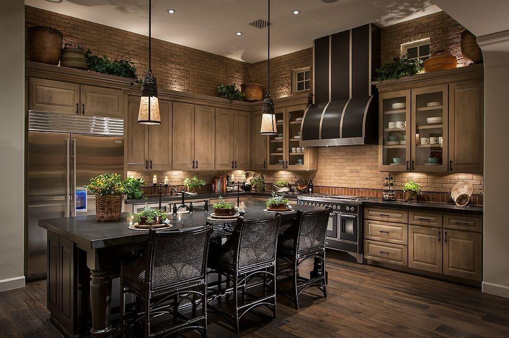 contemporary kitchen with hardwood floors glass panel breakfast bar raised panel l - Raised Panel Kitchen Decor