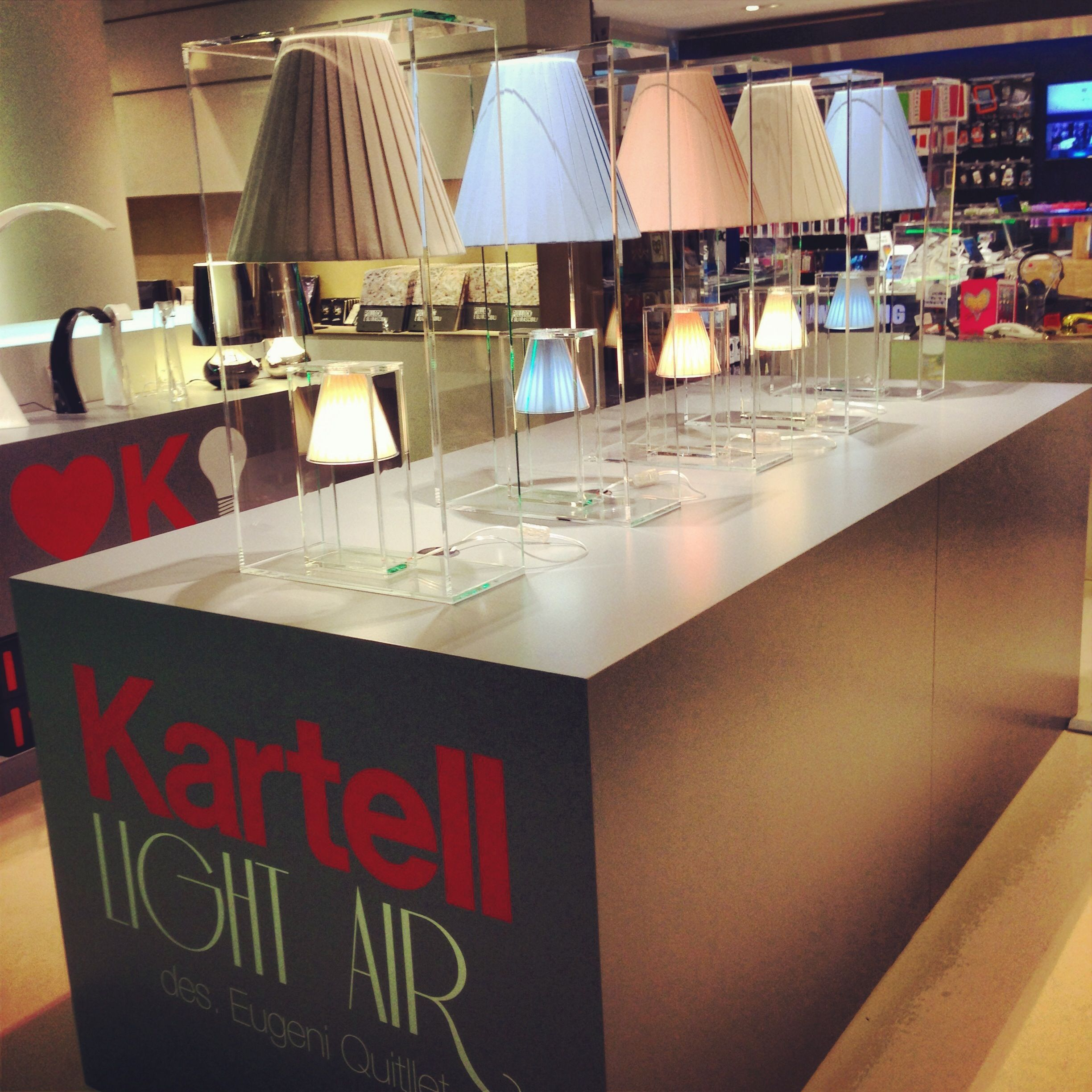 Kartell light air at larinascente milano find out the for Kartell binasco