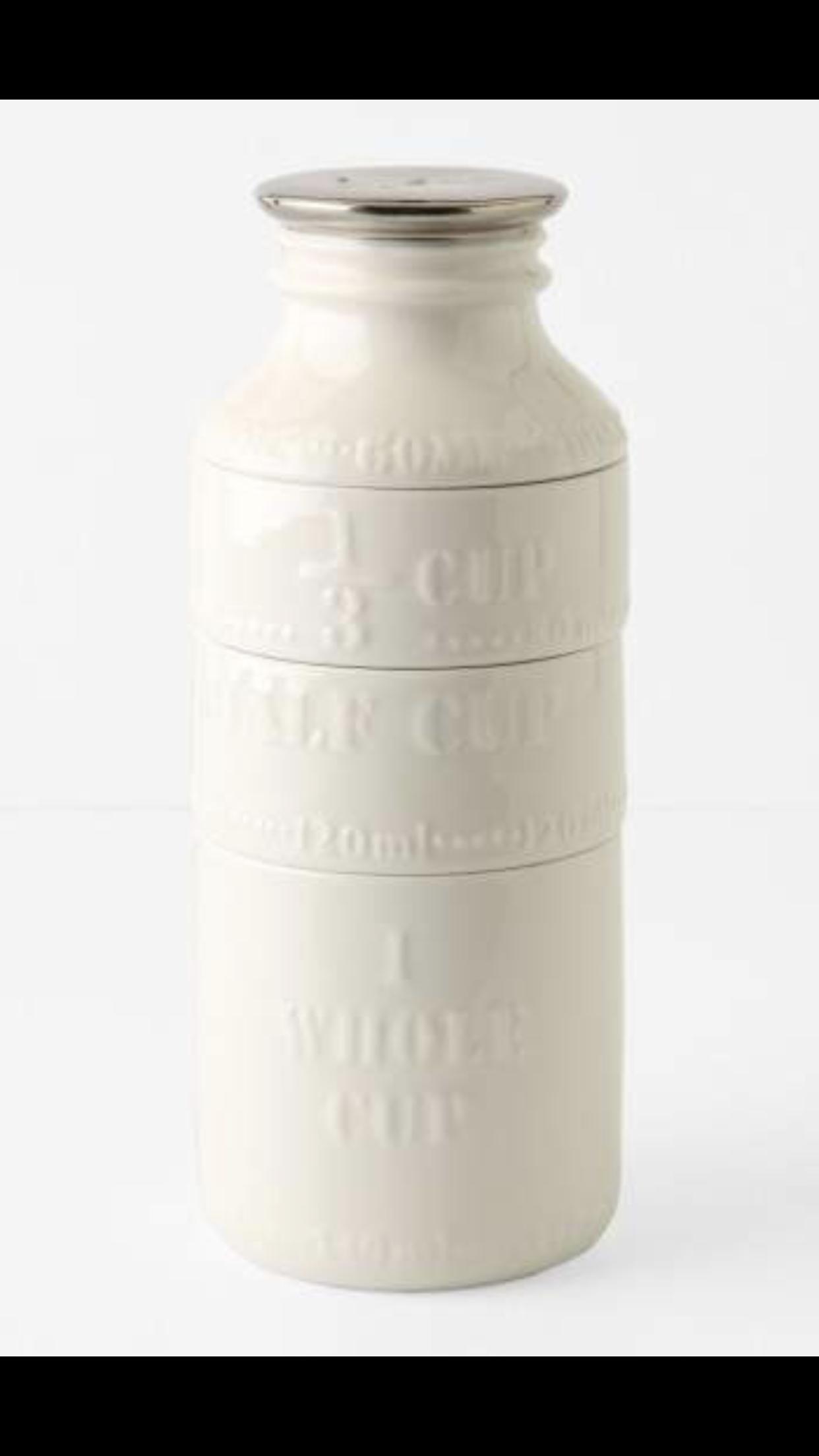 Anthropologie Milk Bottle Measuring Cups vintage chic