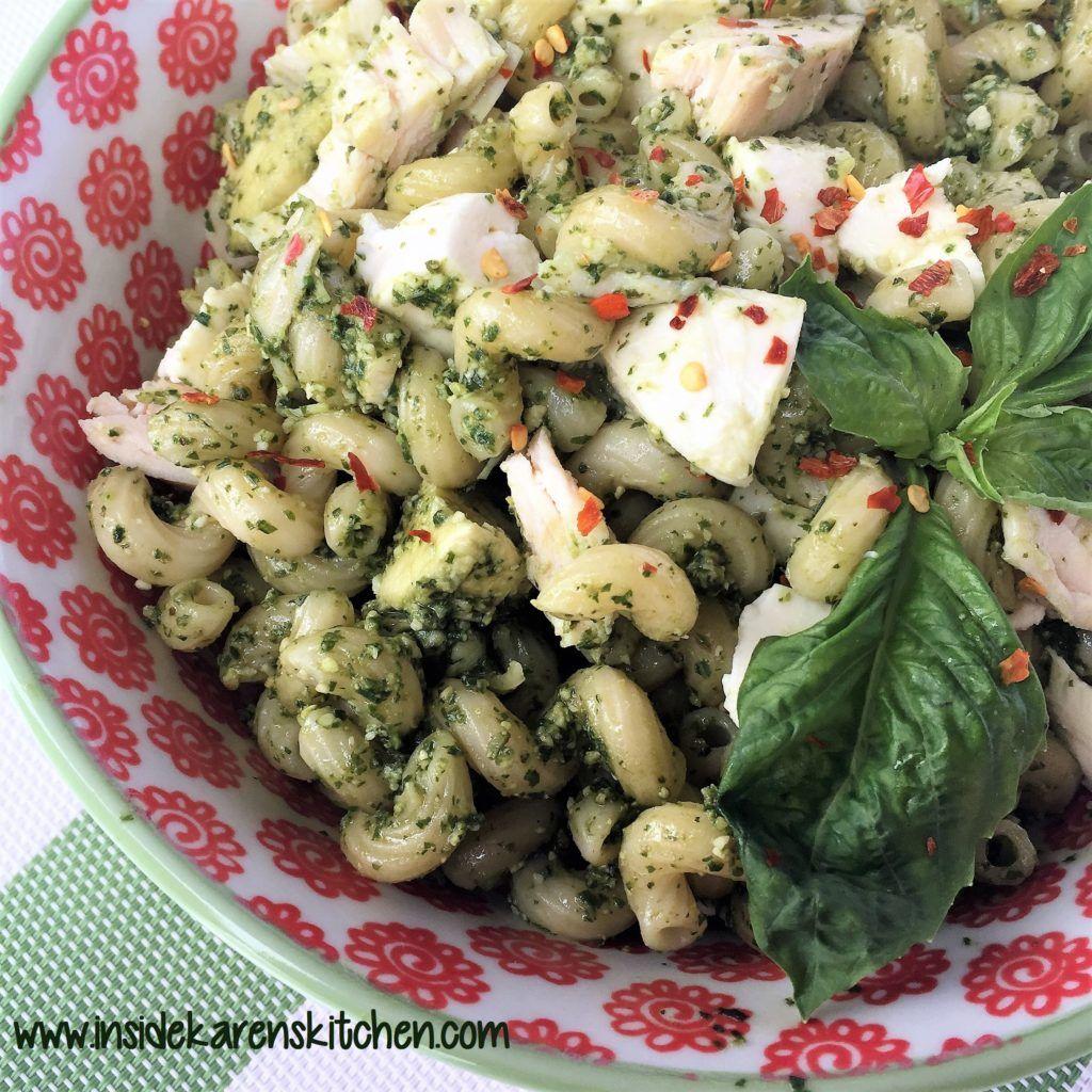 Cavatappi with Chicken and Basil Pesto – Karen Mangum Nutrition | Recipe |  Cavatappi recipe, Chicken recipes casserole, Pesto cavatappi recipe