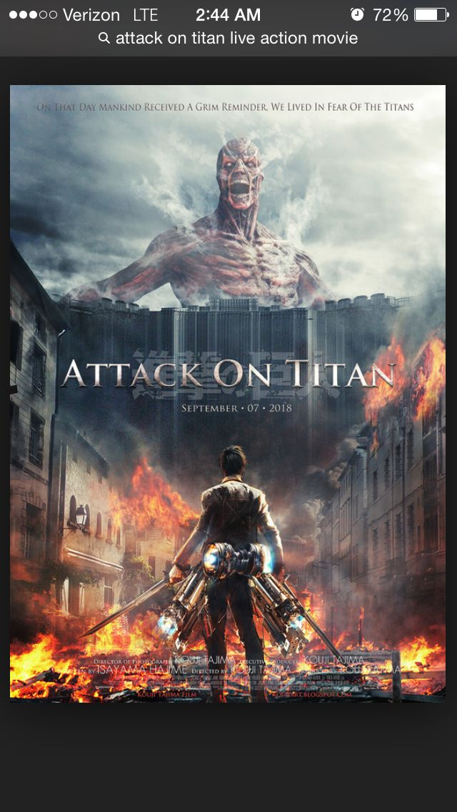 Poster for Attack on Titan live action movie!!   Attack on ...