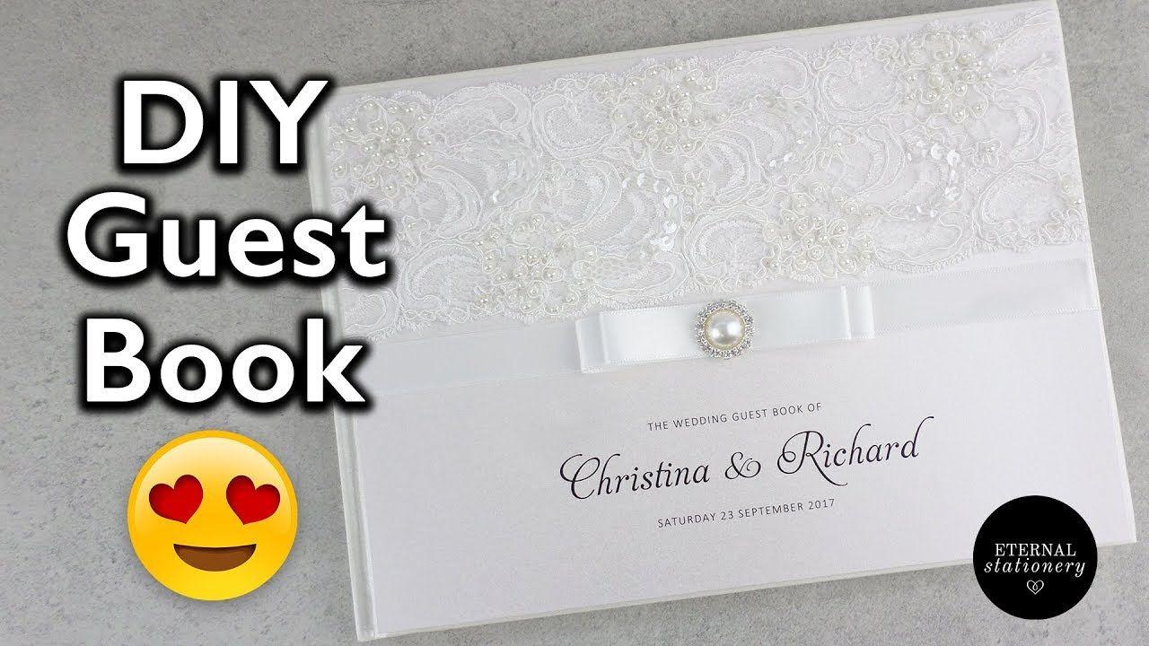Hardcover Wedding Guest Book Tutorial - DIY Wedding Invitations ...
