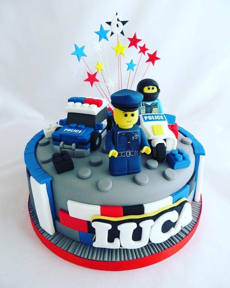 Police Lego Cake Policelego Lego Policecar Policebike Policeman