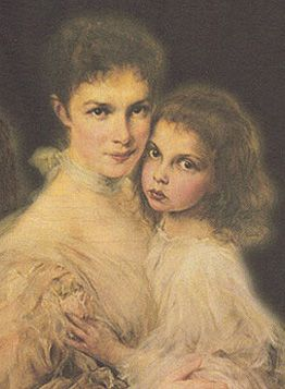 Archduchess Marie Valerie of Austria and her daughter Elizabeth Franziska. They were a daughter and granddaughter of Emperor Franz Josef and Empress Elizabeth of Austria.