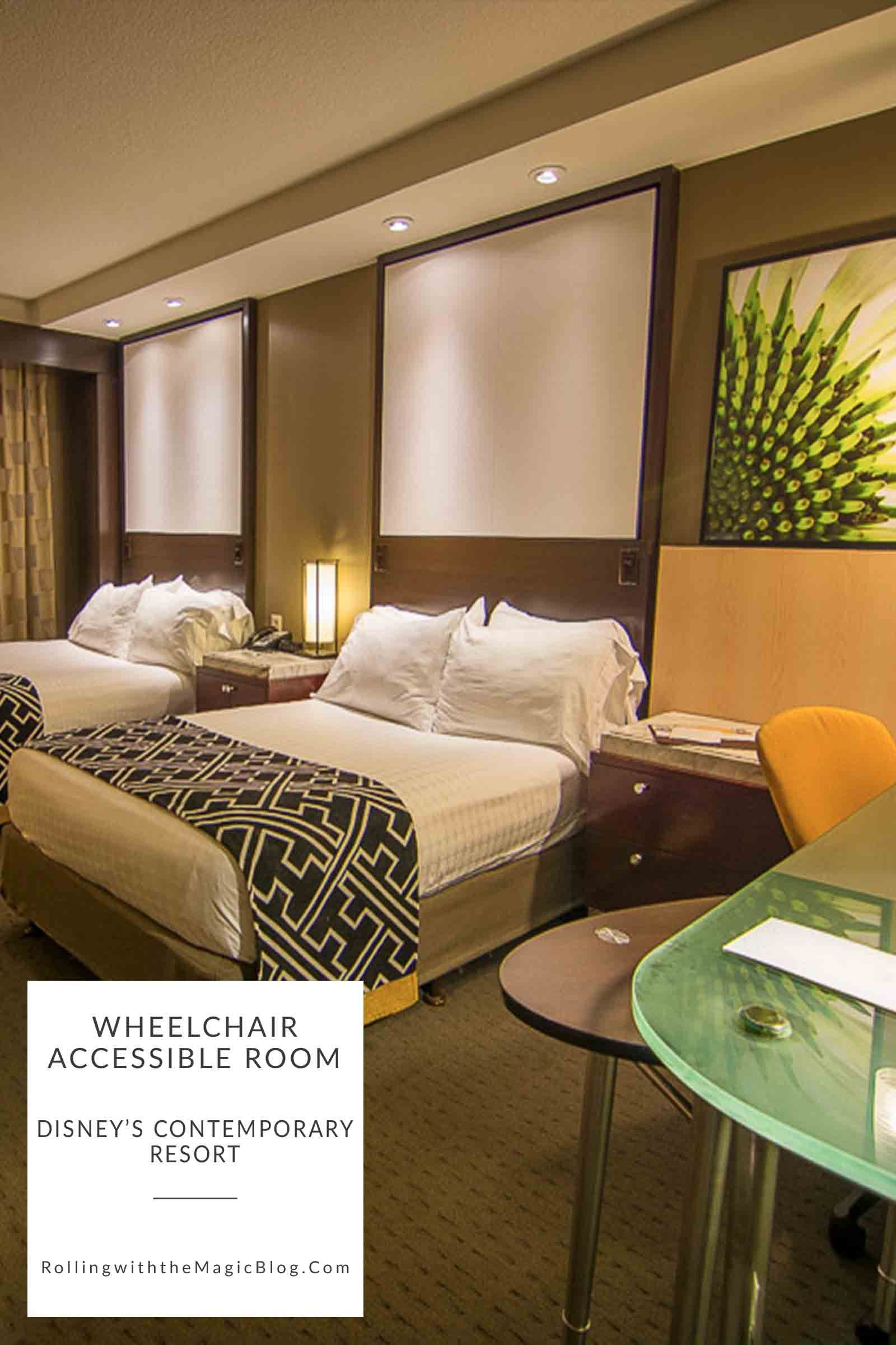 Contemporary Hotel Rooms: Wheelchair Accessible Room At Disney's Contemporary Resort