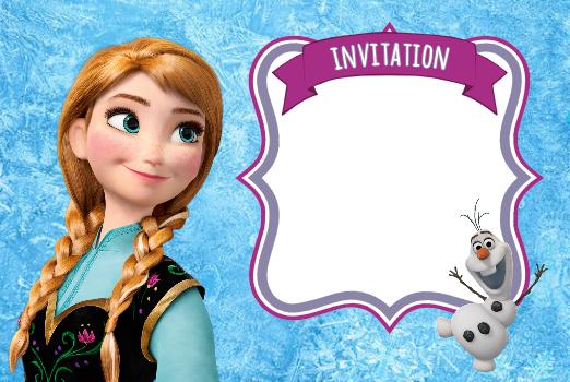 Invitation reine des neiges anna frozen f te enfants pinterest elsa blanket crochet and - Anna elsa reine des neiges ...
